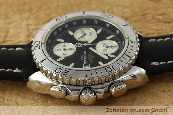 Used luxury watch Breitling Shark chronograph steel automatic Kal. B13 ETA 7750 Ref. A13051  | 150003 05