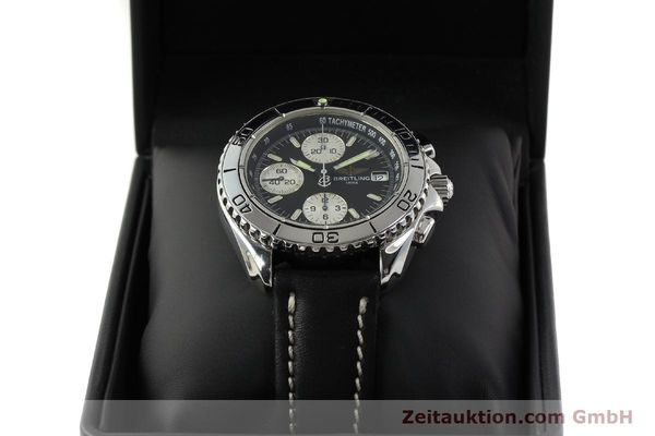 Used luxury watch Breitling Shark chronograph steel automatic Kal. B13 ETA 7750 Ref. A13051  | 150003 07