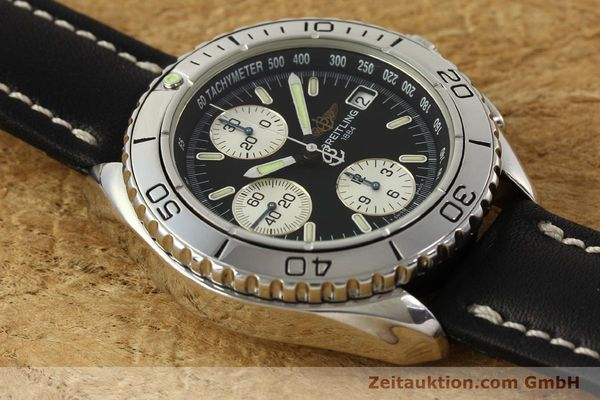 Used luxury watch Breitling Shark chronograph steel automatic Kal. B13 ETA 7750 Ref. A13051  | 150003 13