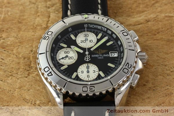 Used luxury watch Breitling Shark chronograph steel automatic Kal. B13 ETA 7750 Ref. A13051  | 150003 14