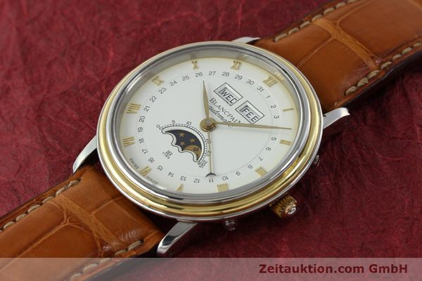 Used luxury watch Blancpain Villeret steel / gold automatic Kal. 6595  | 150012 01