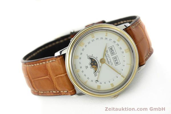 Used luxury watch Blancpain Villeret steel / gold automatic Kal. 6595  | 150012 03