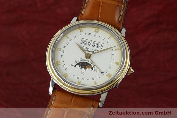 Used luxury watch Blancpain Villeret steel / gold automatic Kal. 6595  | 150012 04