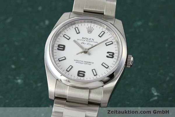 montre de luxe d occasion Rolex Air King acier automatique Kal. 3130 Ref. 114200  | 150014 04