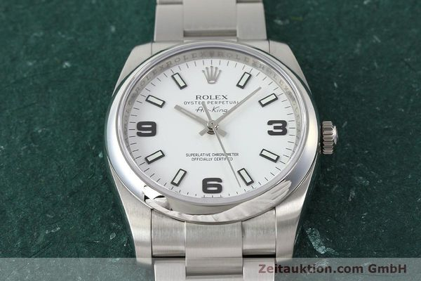 montre de luxe d occasion Rolex Air King acier automatique Kal. 3130 Ref. 114200  | 150014 16
