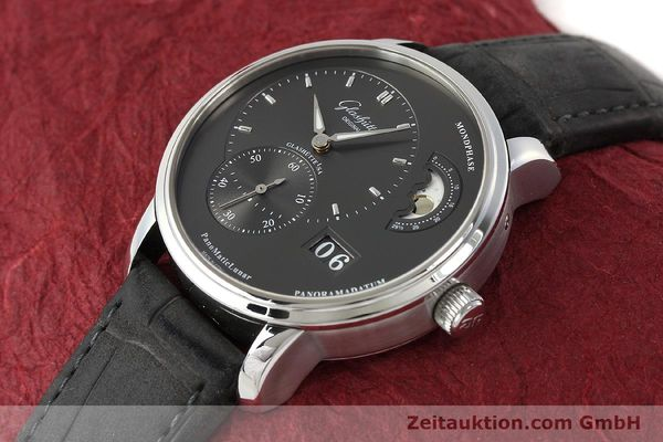 Used luxury watch Glashütte PanoMaticLunar steel automatic Kal. 90 Ref. 90-02-43-32-05  | 150015 01