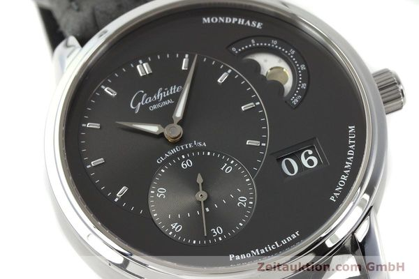 Used luxury watch Glashütte PanoMaticLunar steel automatic Kal. 90 Ref. 90-02-43-32-05  | 150015 02
