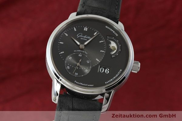 Used luxury watch Glashütte PanoMaticLunar steel automatic Kal. 90 Ref. 90-02-43-32-05  | 150015 04