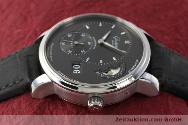 Used luxury watch Glashütte PanoMaticLunar steel automatic Kal. 90 Ref. 90-02-43-32-05  | 150015 05