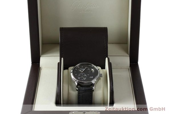 Used luxury watch Glashütte PanoMaticLunar steel automatic Kal. 90 Ref. 90-02-43-32-05  | 150015 07
