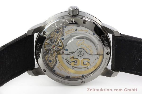 Used luxury watch Glashütte PanoMaticLunar steel automatic Kal. 90 Ref. 90-02-43-32-05  | 150015 09