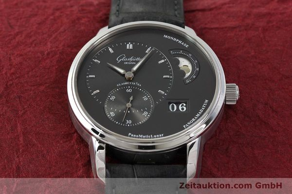 Used luxury watch Glashütte PanoMaticLunar steel automatic Kal. 90 Ref. 90-02-43-32-05  | 150015 17