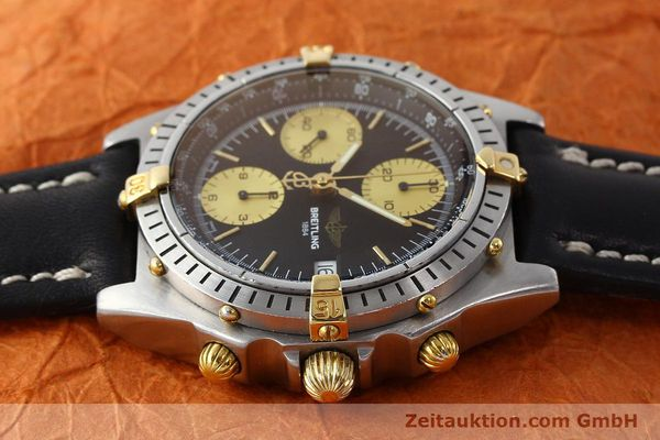 Used luxury watch Breitling Chronomat chronograph steel / gold automatic Kal. B13 ETA 7750 Ref. 81950B13047  | 150019 05