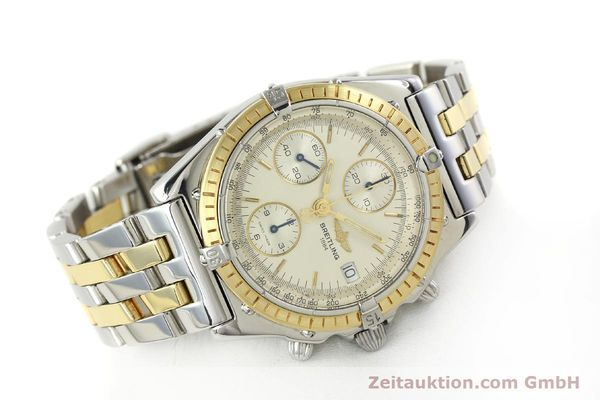 Used luxury watch Breitling Chronomat chronograph steel / gold automatic Kal. B13 ETA 7750 Ref. D13050  | 150020 03