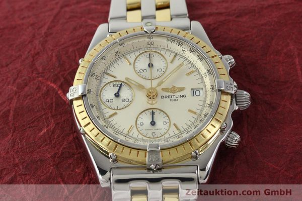Used luxury watch Breitling Chronomat chronograph steel / gold automatic Kal. B13 ETA 7750 Ref. D13050  | 150020 15