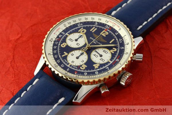 Used luxury watch Breitling Navitimer chronograph steel / gold automatic Kal. B30 ETA 2892-2 Ref. D30021  | 150021 01