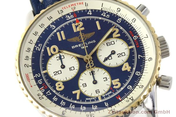 Used luxury watch Breitling Navitimer chronograph steel / gold automatic Kal. B30 ETA 2892-2 Ref. D30021  | 150021 02