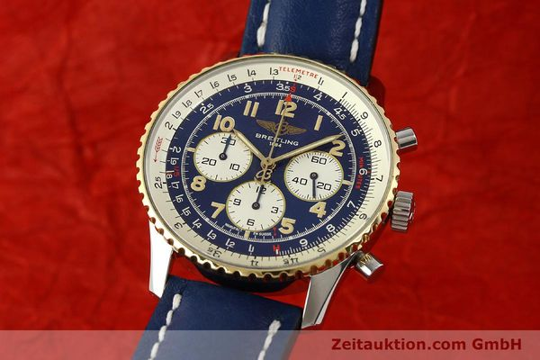 Used luxury watch Breitling Navitimer chronograph steel / gold automatic Kal. B30 ETA 2892-2 Ref. D30021  | 150021 04