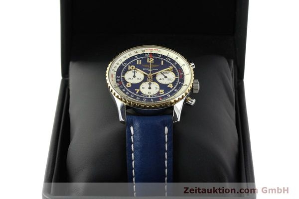 Used luxury watch Breitling Navitimer chronograph steel / gold automatic Kal. B30 ETA 2892-2 Ref. D30021  | 150021 07