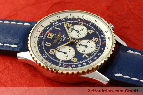 Used luxury watch Breitling Navitimer chronograph steel / gold automatic Kal. B30 ETA 2892-2 Ref. D30021  | 150021 14