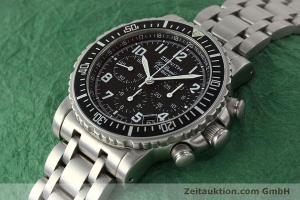 Used luxury watch Zenith Elprimero chronograph steel automatic Kal. 405Z Ref. 01/02.0470.405  | 150025 01