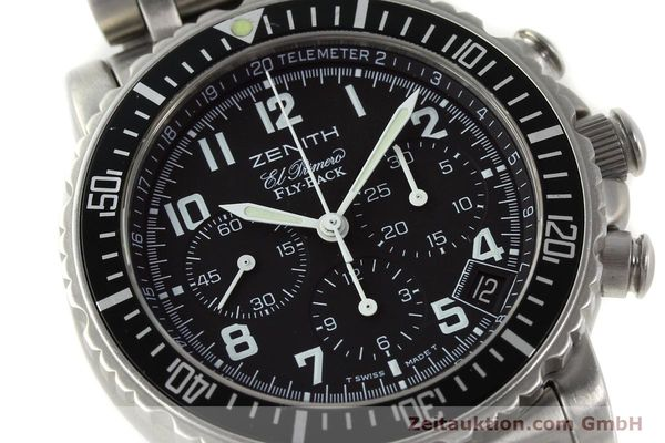 Used luxury watch Zenith Elprimero chronograph steel automatic Kal. 405Z Ref. 01/02.0470.405  | 150025 02