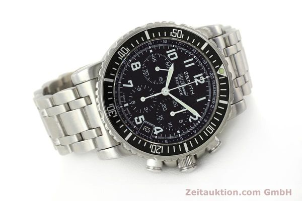 Used luxury watch Zenith Elprimero chronograph steel automatic Kal. 405Z Ref. 01/02.0470.405  | 150025 03