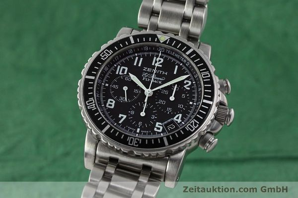 Used luxury watch Zenith Elprimero chronograph steel automatic Kal. 405Z Ref. 01/02.0470.405  | 150025 04