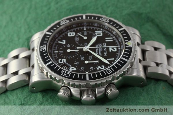 Used luxury watch Zenith Elprimero chronograph steel automatic Kal. 405Z Ref. 01/02.0470.405  | 150025 05