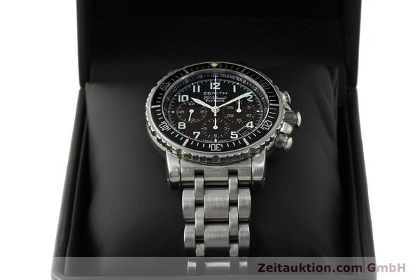 Used luxury watch Zenith Elprimero chronograph steel automatic Kal. 405Z Ref. 01/02.0470.405  | 150025 07