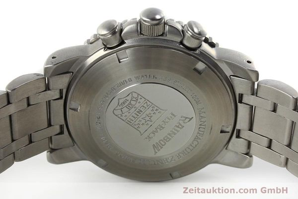 Used luxury watch Zenith Elprimero chronograph steel automatic Kal. 405Z Ref. 01/02.0470.405  | 150025 09
