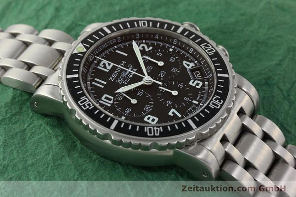 Used luxury watch Zenith Elprimero chronograph steel automatic Kal. 405Z Ref. 01/02.0470.405  | 150025 14