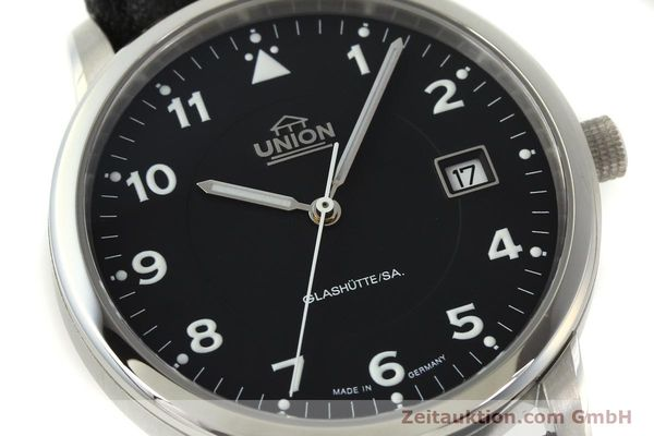 montre de luxe d occasion Union Glashütte Tradition Flieger acier automatique Kal. 26 Ref. 2611090210  | 150040 02