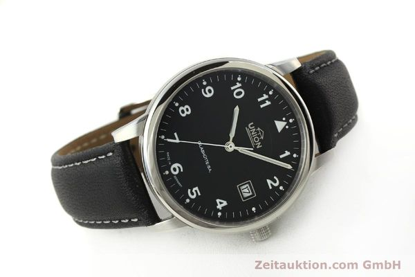 montre de luxe d occasion Union Glashütte Tradition Flieger acier automatique Kal. 26 Ref. 2611090210  | 150040 03