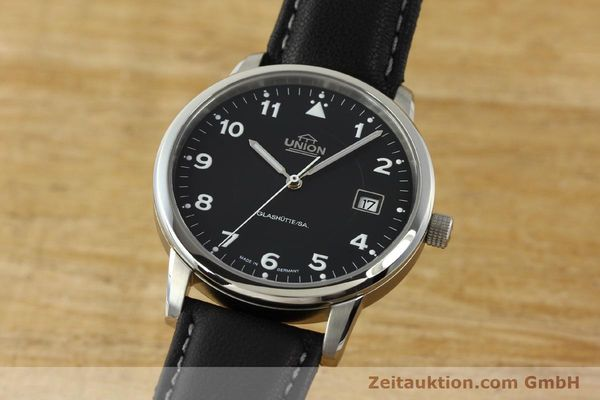 montre de luxe d occasion Union Glashütte Tradition Flieger acier automatique Kal. 26 Ref. 2611090210  | 150040 04