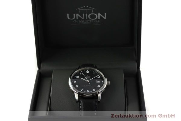 montre de luxe d occasion Union Glashütte Tradition Flieger acier automatique Kal. 26 Ref. 2611090210  | 150040 07