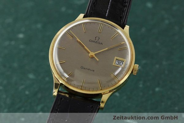 Used luxury watch Omega * 18 ct gold manual winding Kal. 1030 VINTAGE  | 150045 04