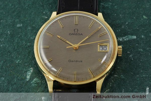 Used luxury watch Omega * 18 ct gold manual winding Kal. 1030 VINTAGE  | 150045 16