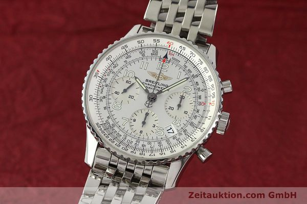 Used luxury watch Breitling Navitimer chronograph steel automatic Kal. B23 Ref. A23322  | 150059 04
