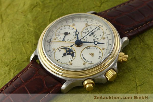 Used luxury watch Maurice Lacroix Phase de Lune  chronograph steel / gold automatic Kal. ETA Ref. 02336  | 150068 01