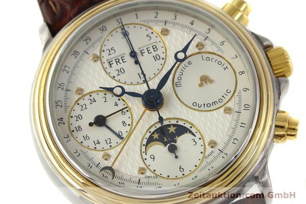 Used luxury watch Maurice Lacroix Phase de Lune  chronograph steel / gold automatic Kal. ETA Ref. 02336  | 150068 02