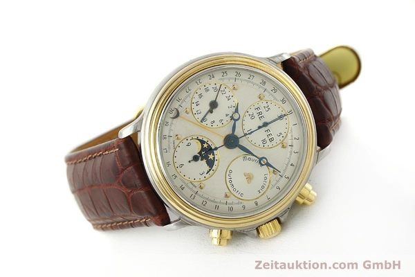 Used luxury watch Maurice Lacroix Phase de Lune  chronograph steel / gold automatic Kal. ETA Ref. 02336  | 150068 03