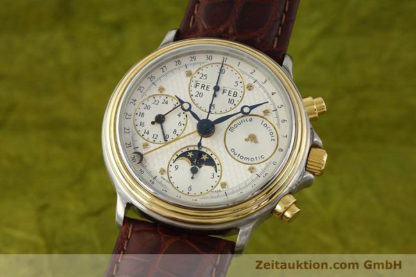 Used luxury watch Maurice Lacroix Phase de Lune  chronograph steel / gold automatic Kal. ETA Ref. 02336  | 150068 04