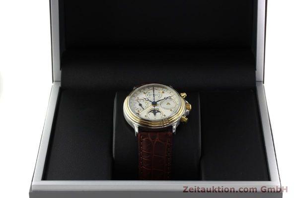 Used luxury watch Maurice Lacroix Phase de Lune  chronograph steel / gold automatic Kal. ETA Ref. 02336  | 150068 07