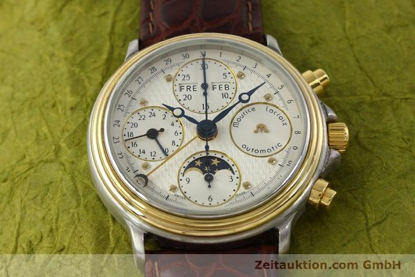 Used luxury watch Maurice Lacroix Phase de Lune  chronograph steel / gold automatic Kal. ETA Ref. 02336  | 150068 13