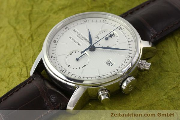 Used luxury watch Baume & Mercier Classima chronograph steel automatic Kal. BM13750 ETA 7750 Ref. 65560  | 150073 01