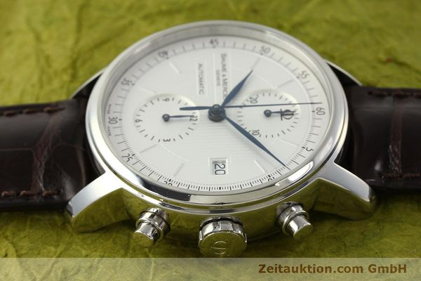 Used luxury watch Baume & Mercier Classima chronograph steel automatic Kal. BM13750 ETA 7750 Ref. 65560  | 150073 05