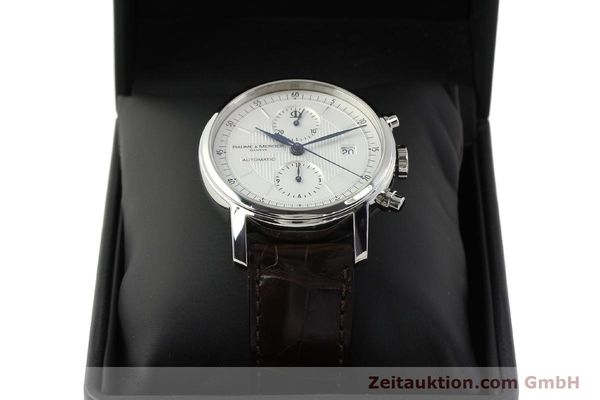 Used luxury watch Baume & Mercier Classima chronograph steel automatic Kal. BM13750 ETA 7750 Ref. 65560  | 150073 07