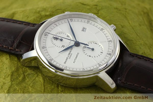 Used luxury watch Baume & Mercier Classima chronograph steel automatic Kal. BM13750 ETA 7750 Ref. 65560  | 150073 13