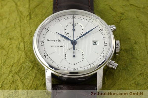 Used luxury watch Baume & Mercier Classima chronograph steel automatic Kal. BM13750 ETA 7750 Ref. 65560  | 150073 14